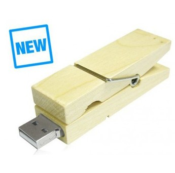 Picture of Wood Clothespin USB Flash Drive