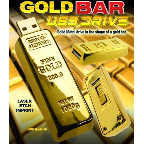 Picture of Golden Bar USB Flash Drive