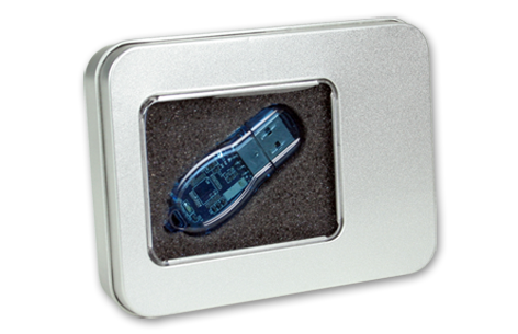 Picture of Tin Box USB Case with Window