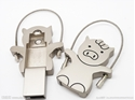 Picture of Custom Metallic USB Flash Drive - Iron Piglet